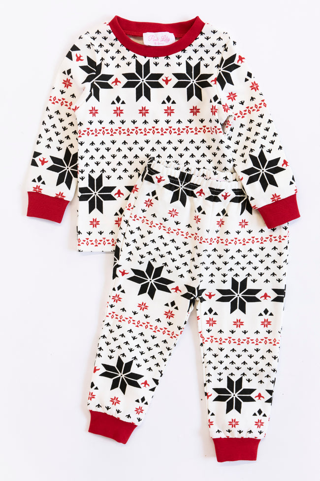 Wishing For Snow Days Infant Snowflake Pajama Set