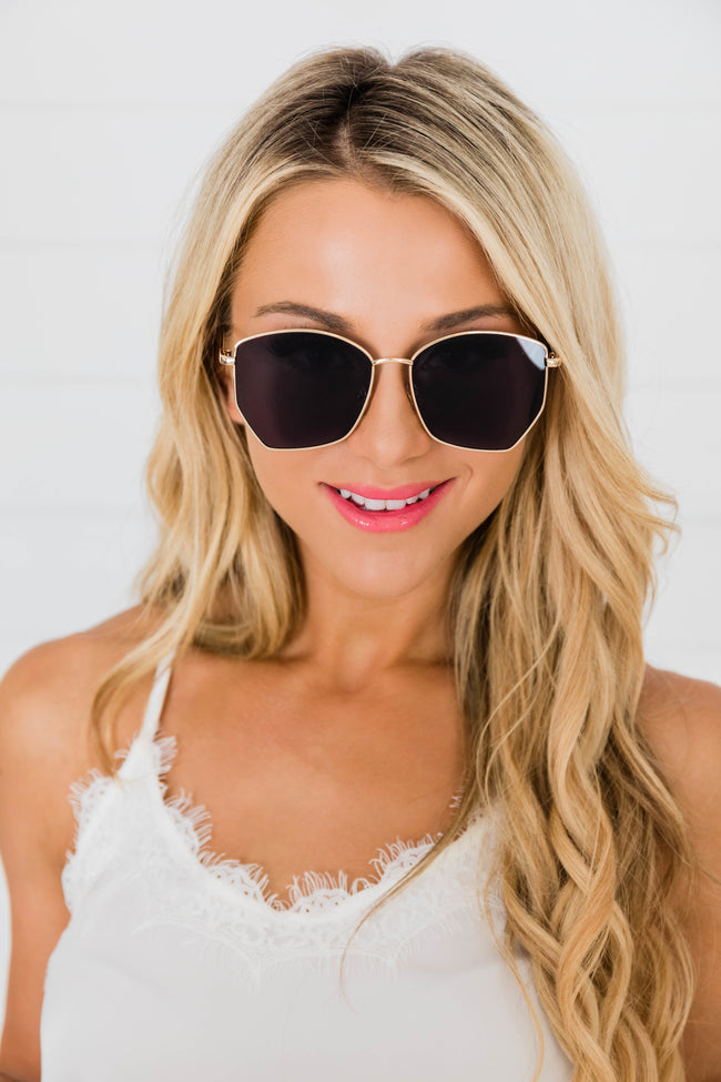 Sunburst Love Sunglasses Gold