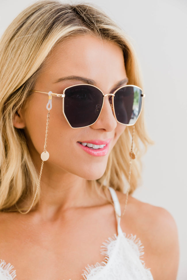 Shining Style Sunglasses Chain Gold