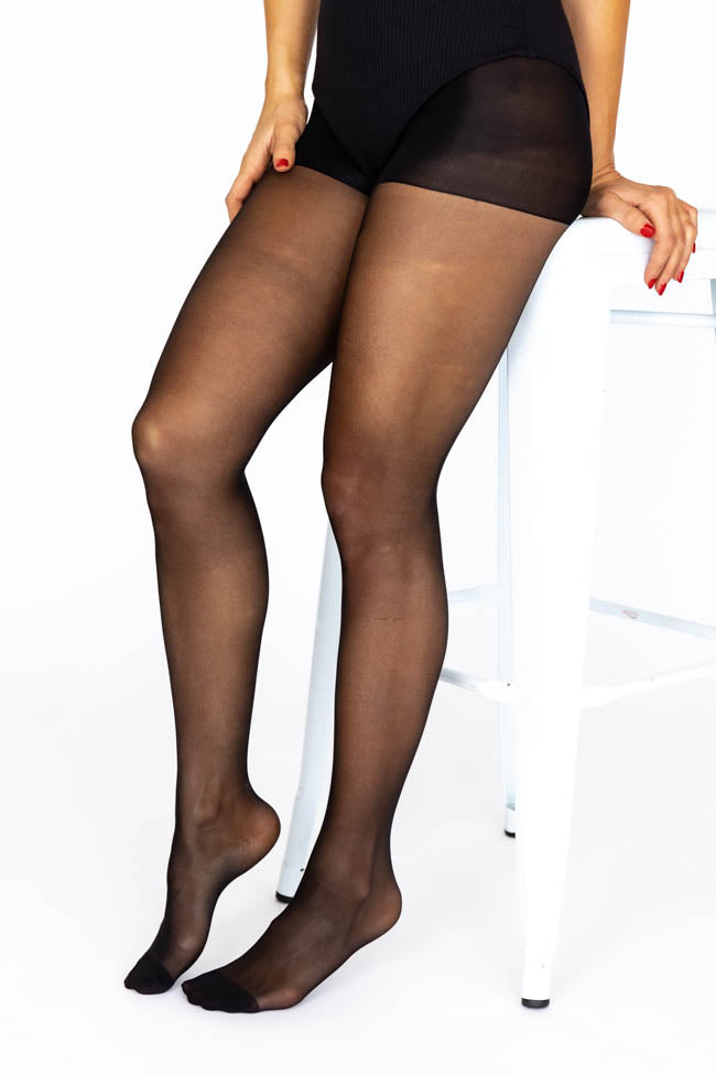 Keep Guessing Black Tights