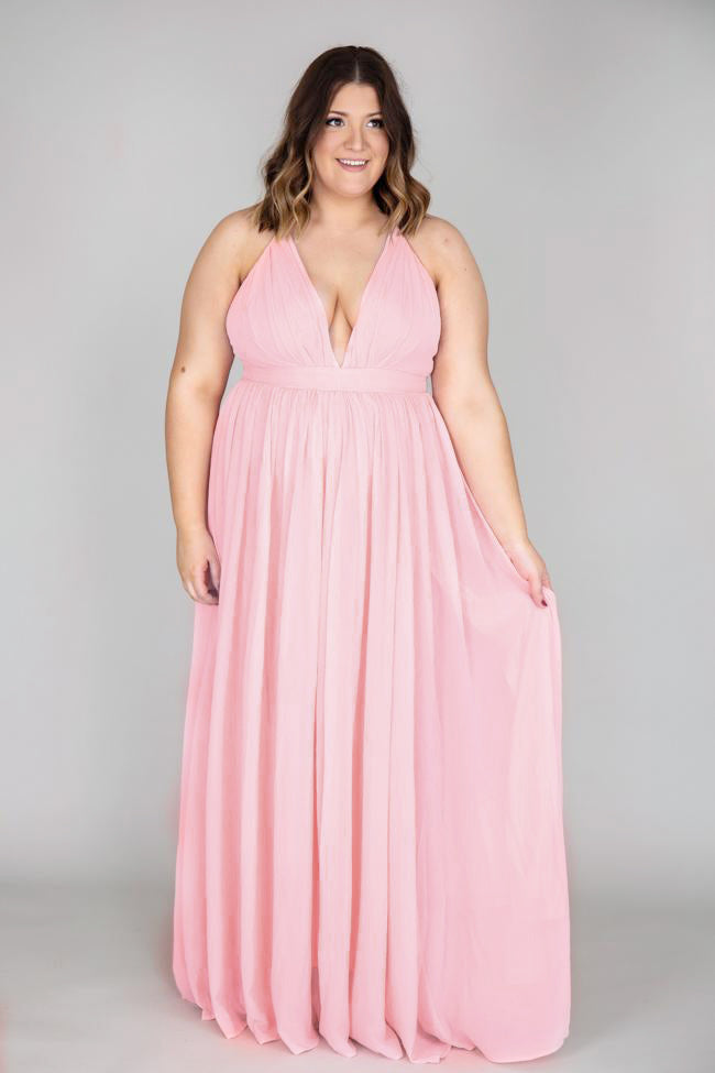 It All Begins With Love Pink Maxi Dress