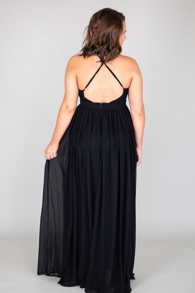It All Begins With Love Black Maxi Dress