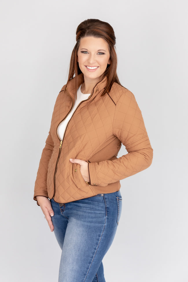 Let's Go Anywhere Together Camel Jacket