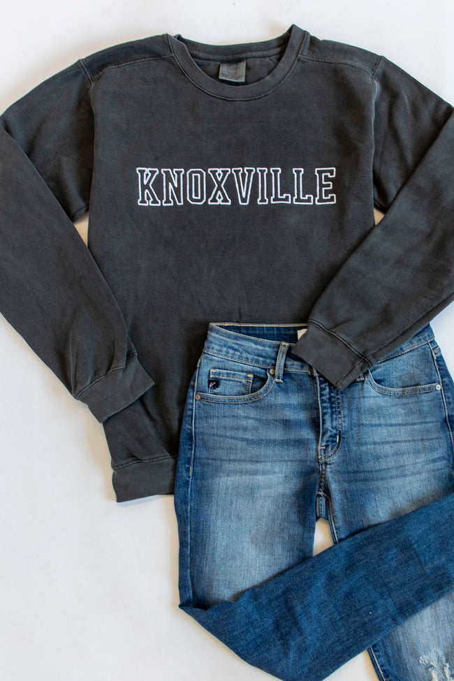 Comfort Colors City Embroidered Charcoal Sweatshirt