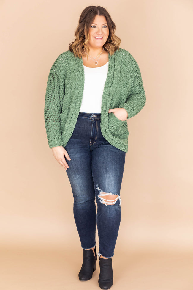 Undeniable Connection Chenille Olive Cardigan FINAL SALE