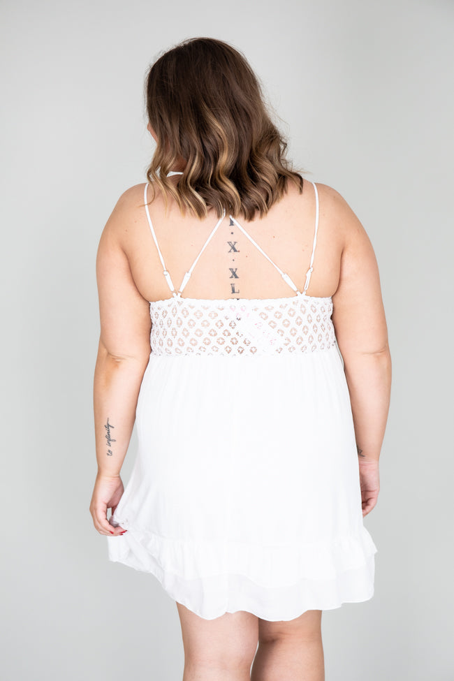 Won't Forget Me White Lace Dress