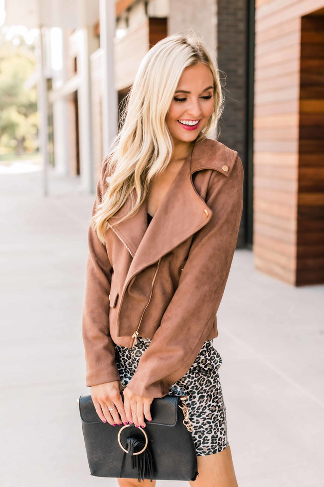Ride Into The Sunset Brown Moto Jacket