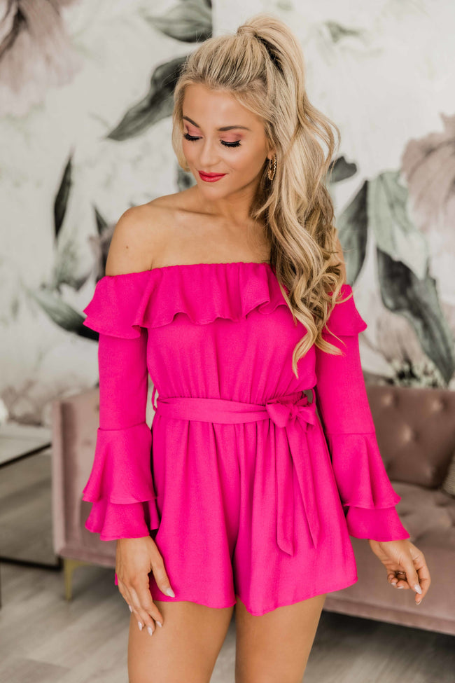 Always My Sweetest Love Magenta Romper CLEARANCE