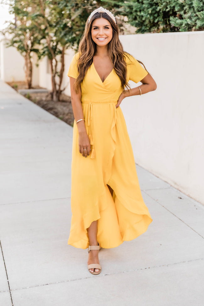 A Magnificent Night Yellow Maxi Dress FINAL SALE