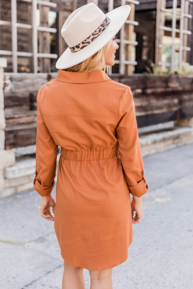 A Feeling Like This Rust Dress