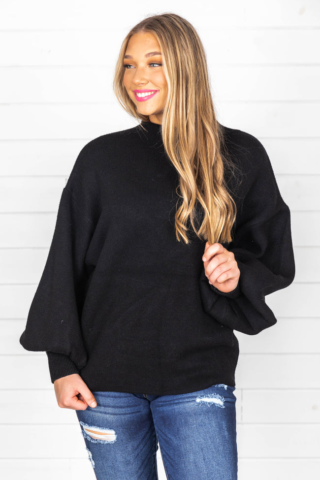 All My Heart Is Yours Black Sweater