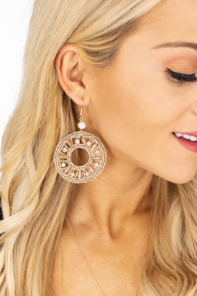 Beautiful Inspiration Beige Earrings