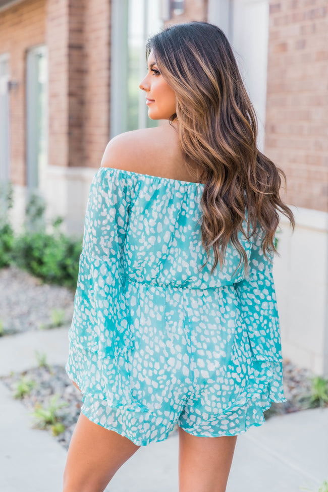 Best Moments Romper Teal