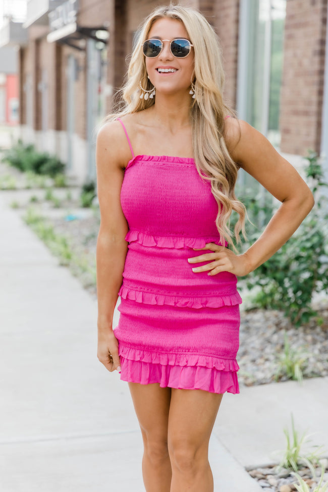 Best Of Me Dress Hot Pink