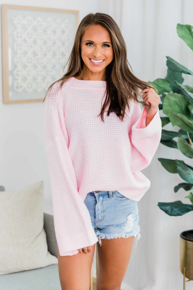 Better Than You Know Light Pink Sweater