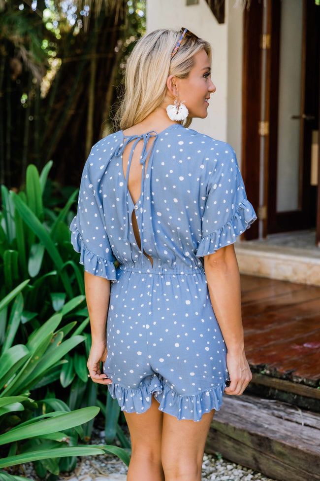 Southern Summers Romper Blue