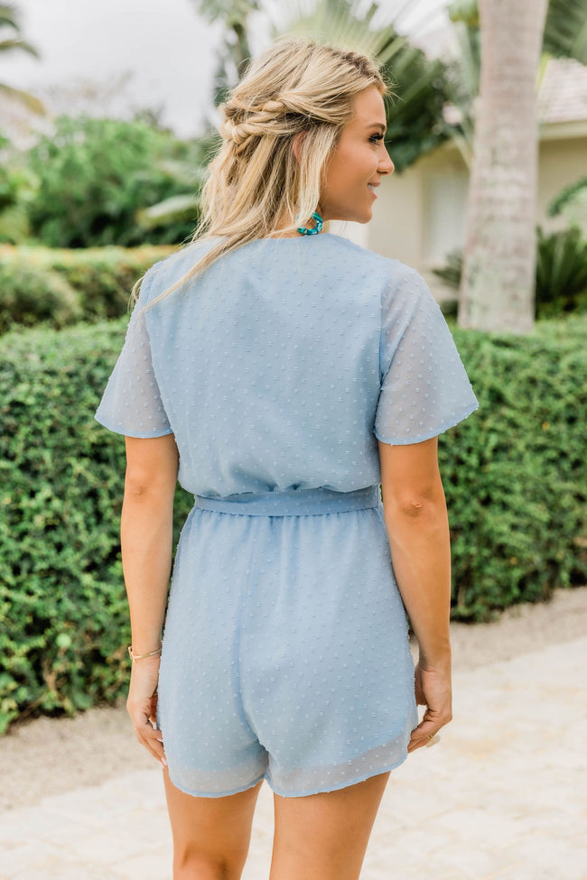 Bring You Love Light Blue Romper FINAL SALE