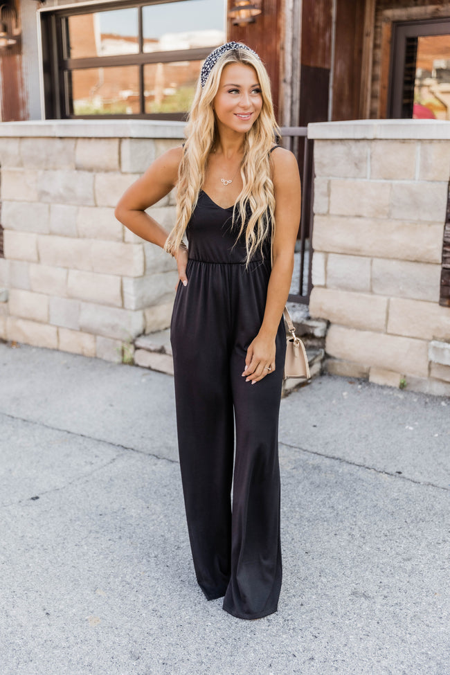 Casually Obsessed Black Jumpsuit