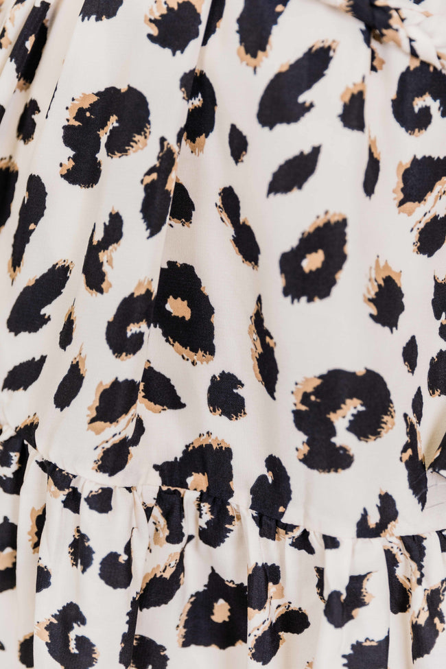 Chase The Idea Rope Detail Animal Print Dress