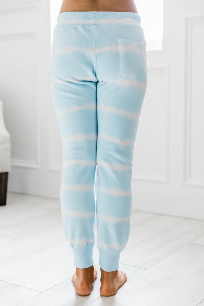 Chase a Dream Tie Dye Joggers Light Blue FINAL SALE