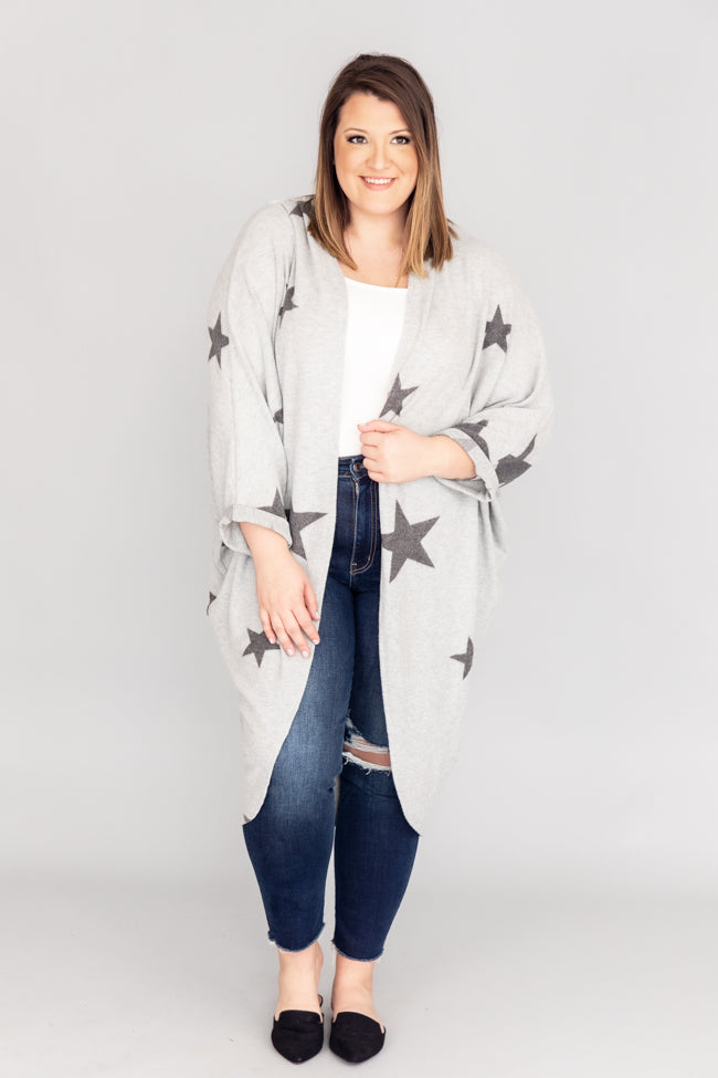 Chill Kind Of Crush Grey Star Kimono