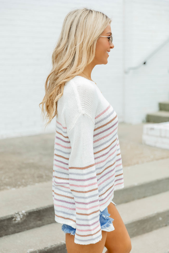 Come A Little Closer Sweater Blush
