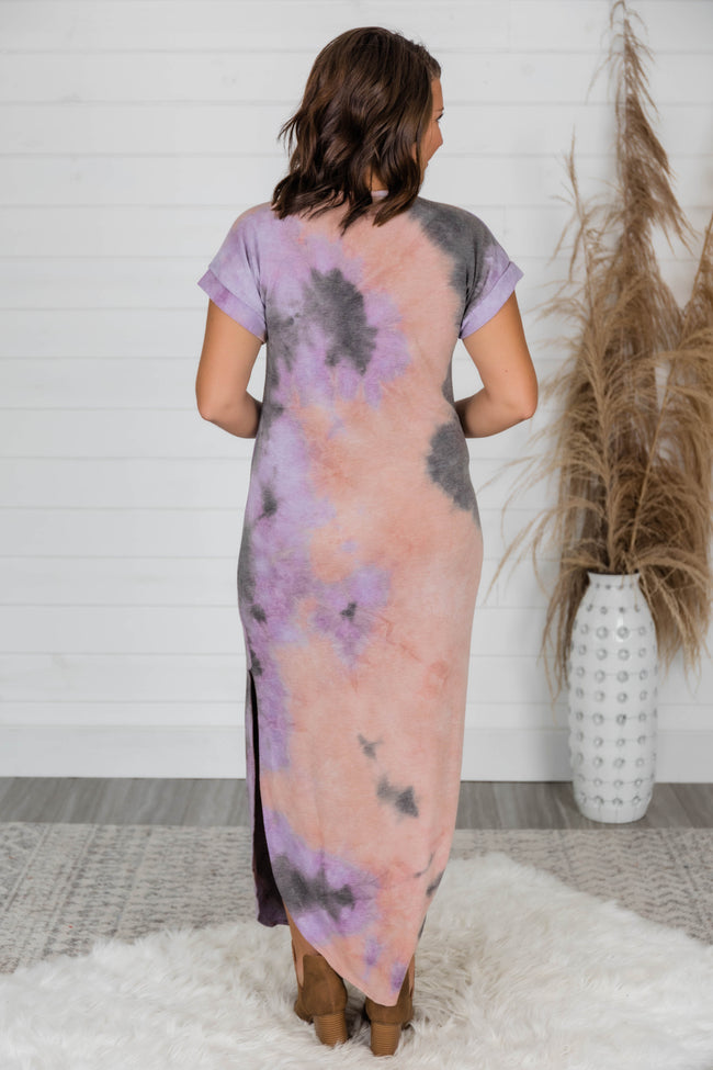 Confidence In You Mauve/Purple Tie Dye Maxi