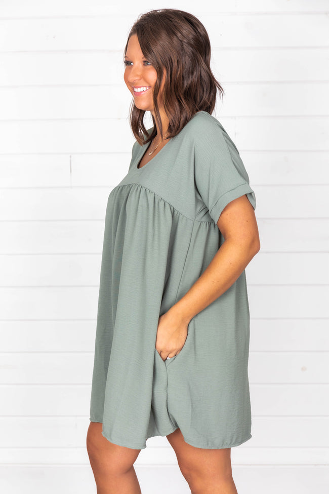 Connect To Your Heart Olive Dress
