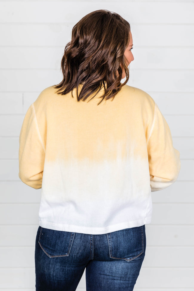 Count On You Tie Dye Pullover Yellow FINAL SALE