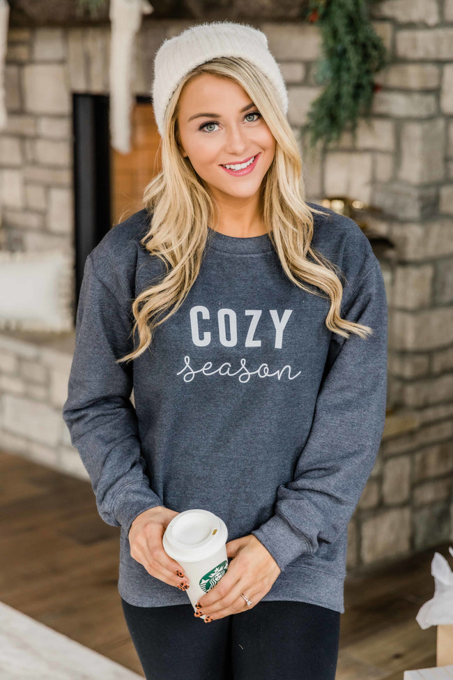 Cozy Season Dark Heather Graphic Sweatshirt