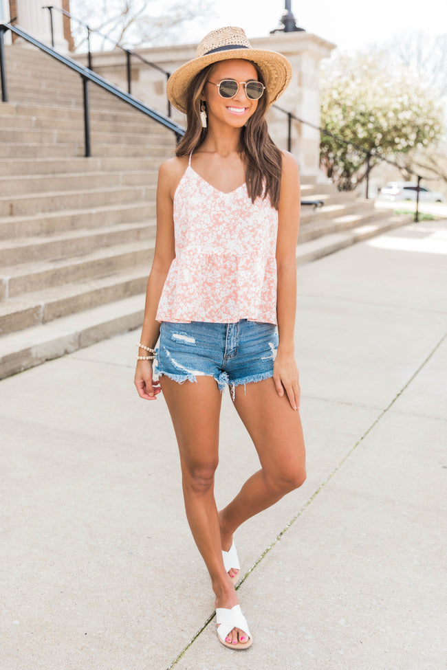 Dancing My Way Tank Apricot FINAL SALE