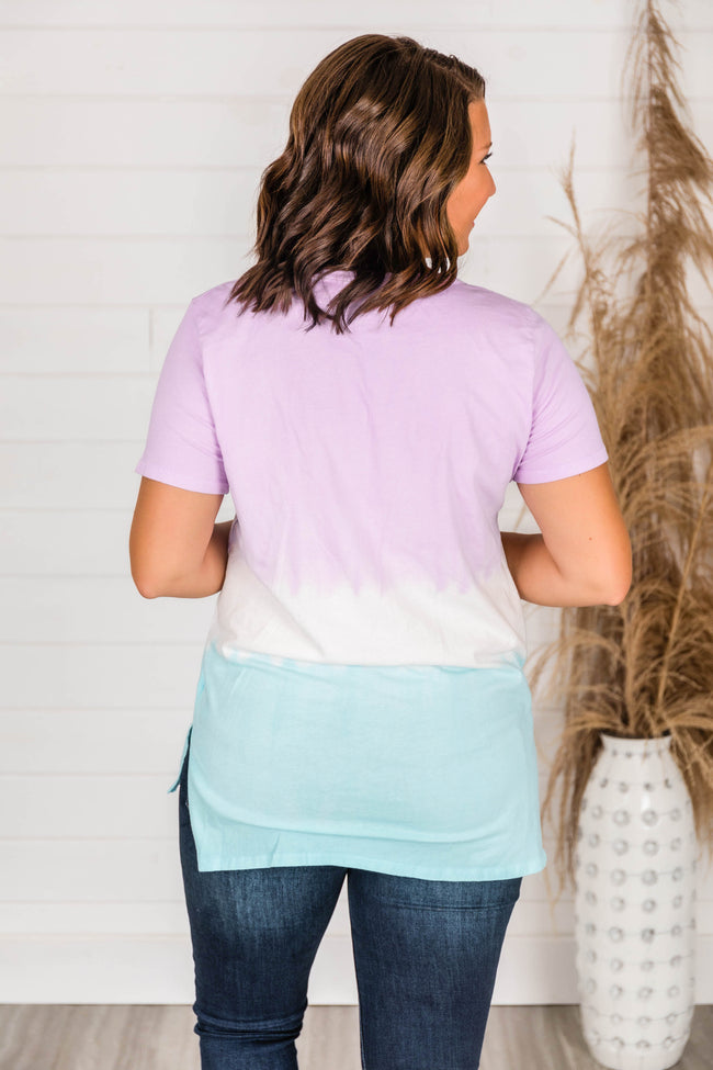 Days To Smile Lavender Ombre Blouse  FINAL SALE