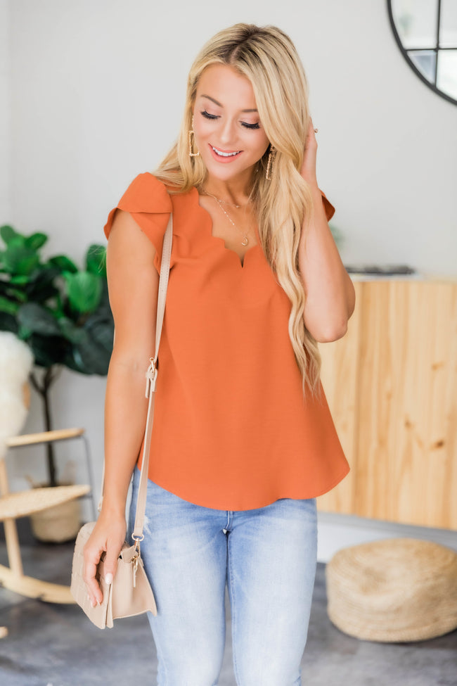 Dedicate My Heart To You Rust Blouse