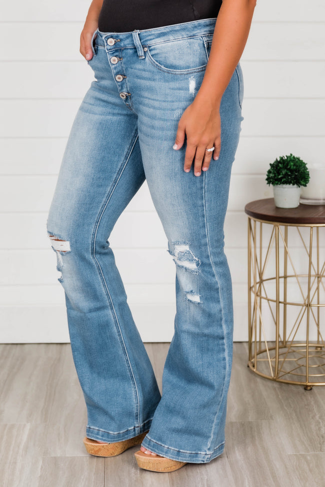 Demi Flare Jeans Medium Wash