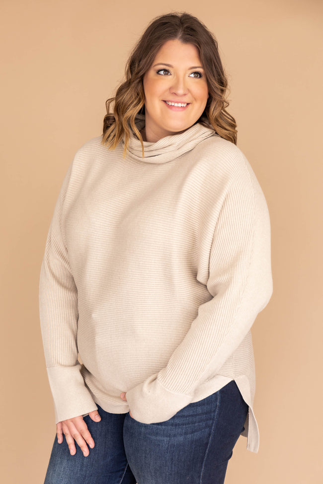 Destined For Success Taupe Sweater