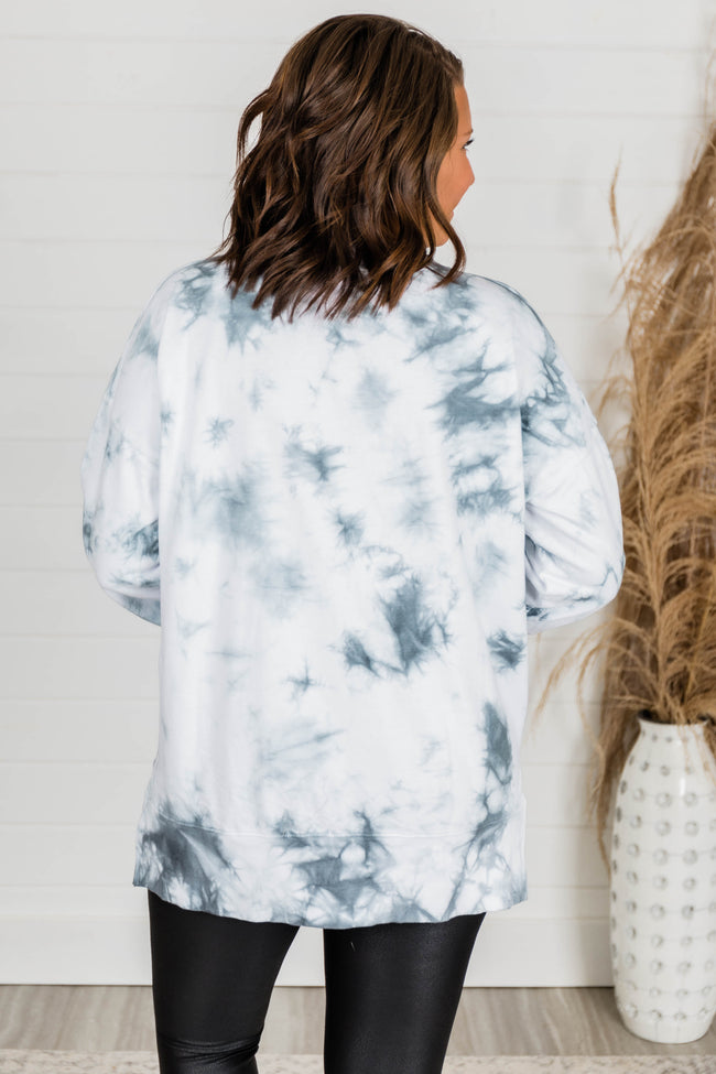 Disguise My Love Charcoal Tie Dye Pullover