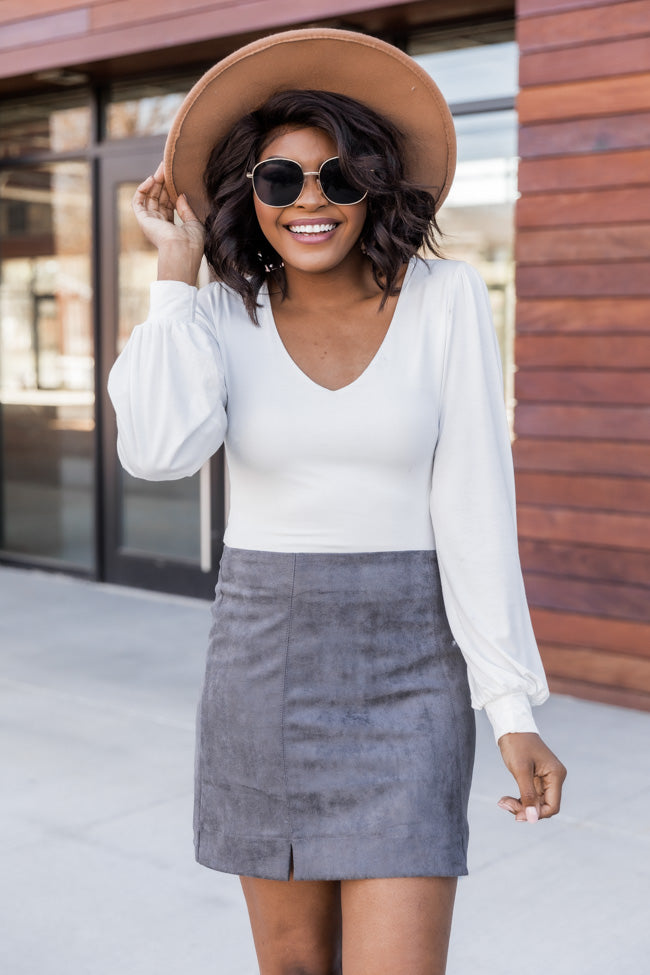 Downtown Diva Charcoal Skirt FINAL SALE