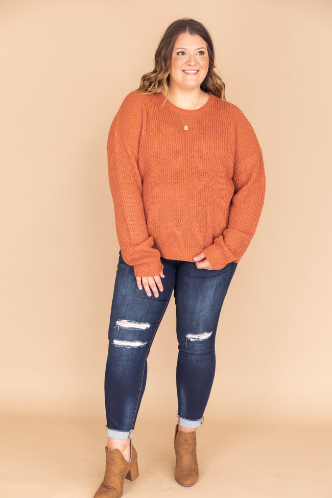 Dreaming At Dusk Sweater Rust