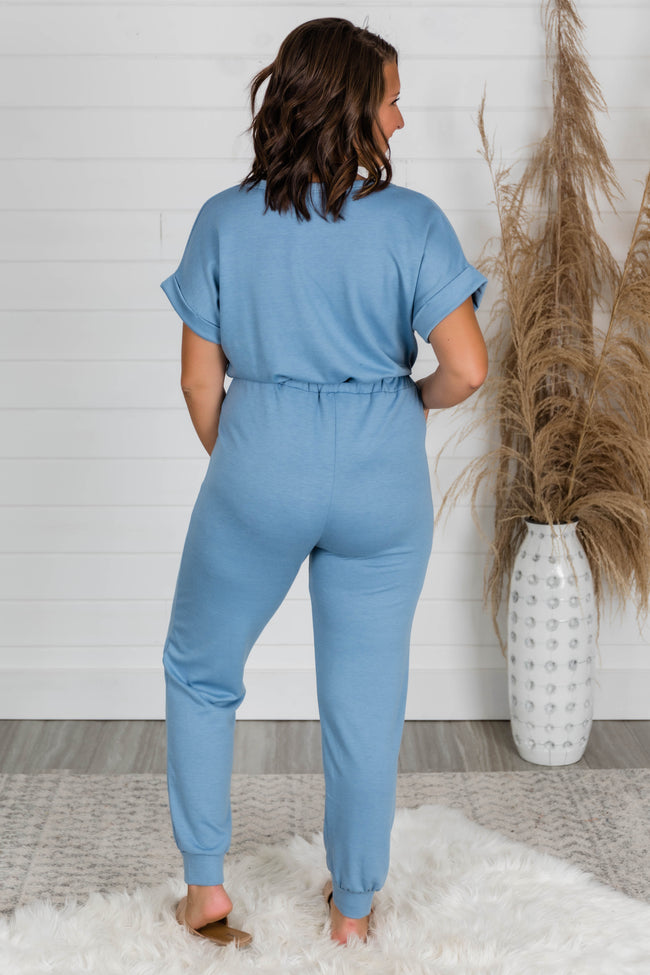 Easy Days Blue Jumpsuit