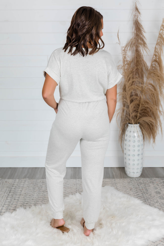 Easy Days Oatmeal Jumpsuit