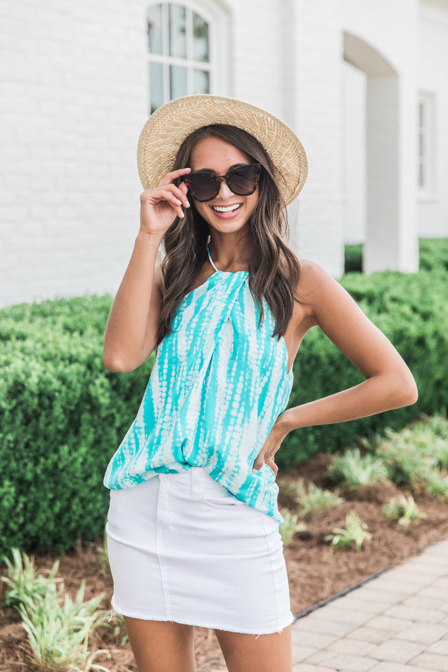 Easy Breezy Days Turquoise Tank