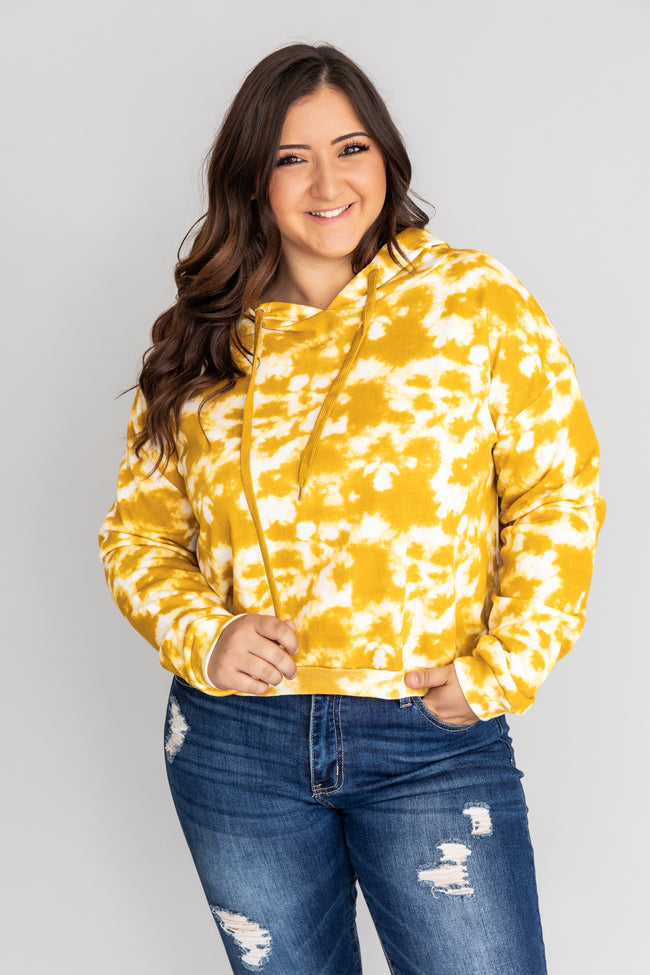 Enchanting Memory Tie Dye Yellow Pullover CLEARANCE