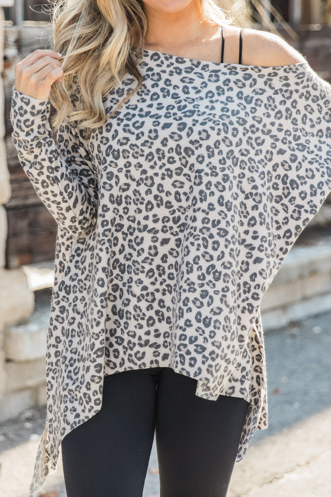 Ever Since We Met Beige Animal Print Pullover