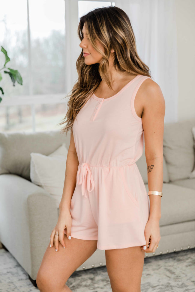 Everything I Could Want Blush Romper