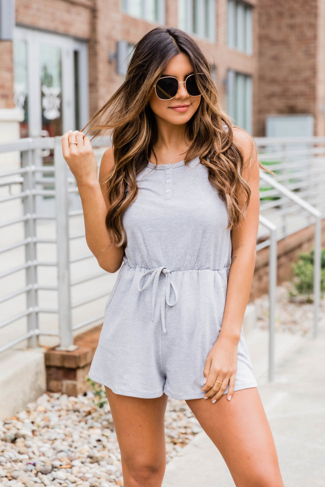 Everything I Could Want Heather Grey Romper