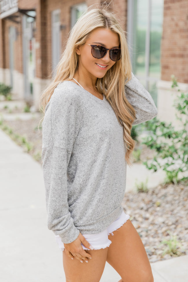 Find Your Love Heather Grey Pullover