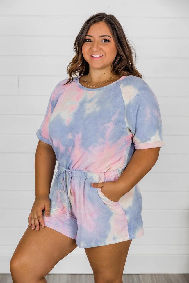 Finding A Way Tie Dye Knit Romper FINAL SALE