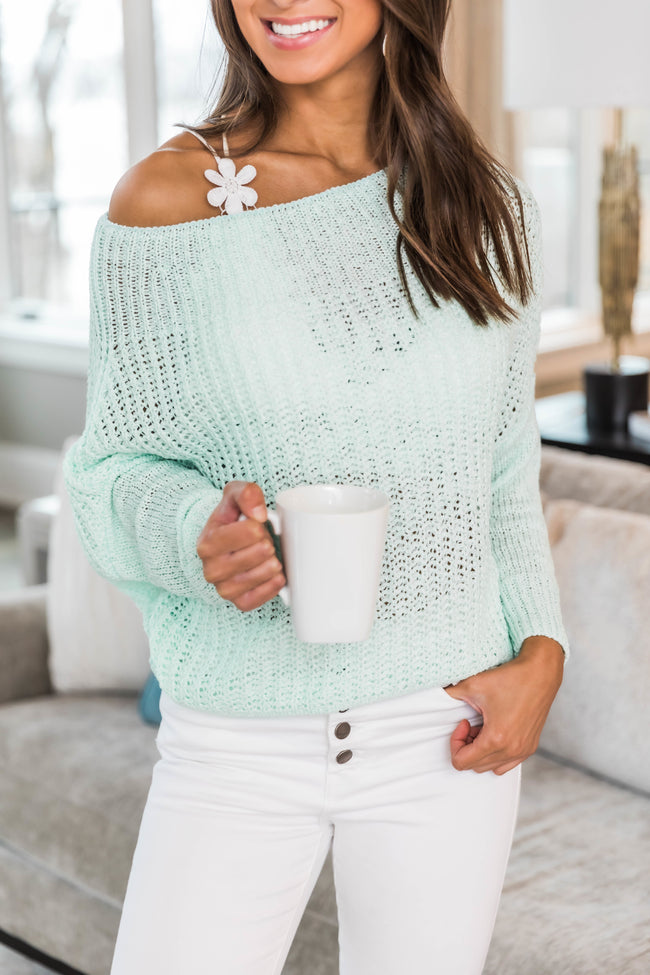 Focused On You Mint Sweater