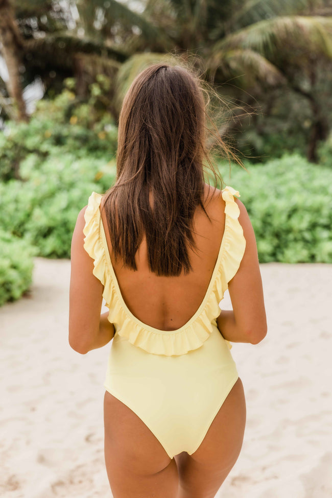Follow The Sunset Yellow Swimsuit