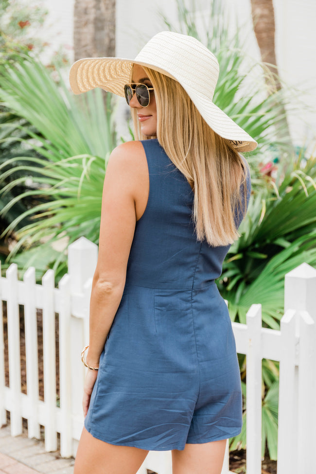 Happy At First Sight Romper Navy FINAL SALE